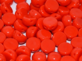 2-Hole Cabochon Bead 93180- Opaque Red.