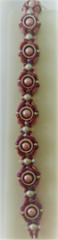 Armband New Creation- Roze met zilver