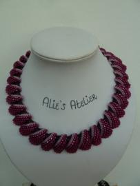 Flat Cellini Stitch - Purple/Roze