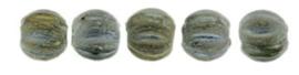 Melon Beads 3mm-Mat Iris Green 21155JT