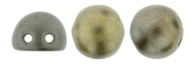 2 Hole Cabochon Beads 7mm  Matte Metallic Leather-K0167