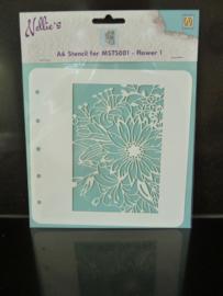 Nellie's stencil - bloemen colst001