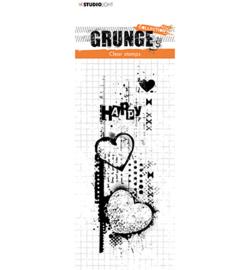 Grunge Stamp Happy Hart - SL410