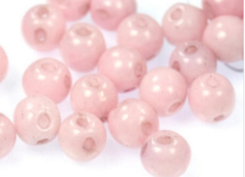 Round Duo® Beads 5mm  -White lila Luster 55