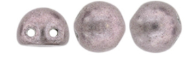 2Hole cabochom 7mm Saturated Metallic Almost Mauve-05A02