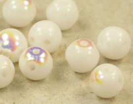 Round Duo® Bead 5mm - White AB 51