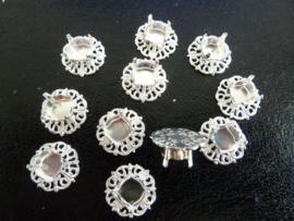 Inzet stuk voor een 14mm armband, Shany zilver-  1760