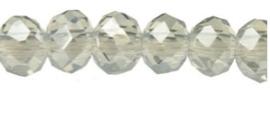 Rondelles 2x3mm Metallic transparant Aqua 2- 32754