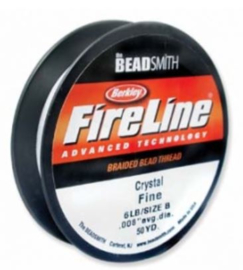 Fire line 6lb  Crystal.   45 meter