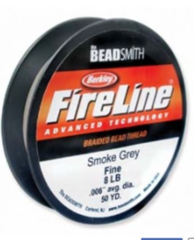 Fire line 8lb Smoke Grey, 45 meter
