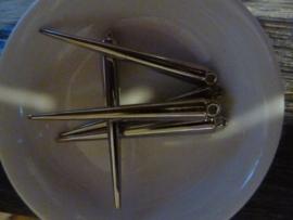 Lange Ijspegel Hanger - Antiek Silver
