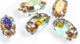 Crystal  Navettes 5x10mm [ in setting] Crystal AB - 34