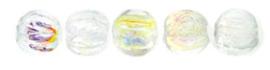 Melon Beads 3mm- Crystal AB X00030