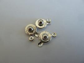 Druksluiting 10 mm  zilverkleur