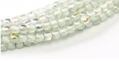 Glass pressed beads  2mm - 98538  Crystal Blue rainbow