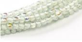 Glass pressed beads  2mm - 98538  Crystal Blue rainbow