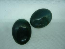 Cabochon  ovaal - Groen