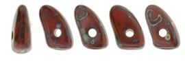 Prong Bead 3/6mm [loose] Opaque Red Picasso - T93200