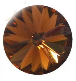 Rivoli 12mm- Topaz Foiled