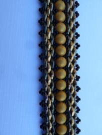 Diamond Dance - Kleuren : Oker, metallic Leather en  zwart