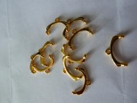 Bead Ending - 24k gold plate -012206 gp