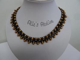 Ketting Arvex - in zwart/ goud teint
