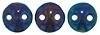 06-21435JT  Lentil Bead  Iris Blue