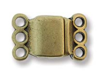Magnetic Clasp - 3 ring brons 13,7x 8,6mm