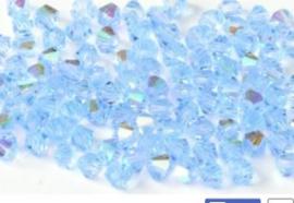 30020 Bicone 4mm  Light sapphire AB