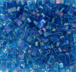 Half Tila Bead- 0291 Transparant Capri Blue