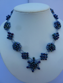Collier Purple Passion  - Blauw teinten
