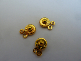 Druksluiting  8mm  goudkleur
