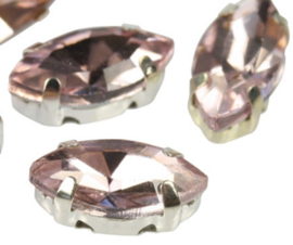 Crystal Navettes 5x10mm [ in setting] Light Rose -38