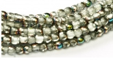 Glass Pressed beads  2mm - 28101 Crystal Vitrail