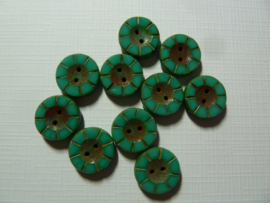Table Cut Button- Opaque Jade  49341