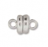 Magnetic Clasp 6mm Silver Plate 1/4 Gr