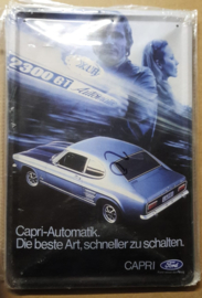Metaalplaat Ford Capri