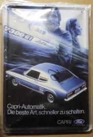 Metaalplaat Ford Capri