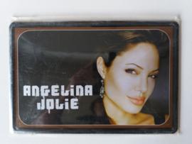 Metaalplaat Angelina Jolie