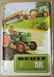 Metaalplaat Deutz 15 PS