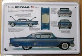 Metaalplaat Chevrolet Impala