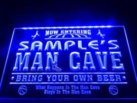 """3D ledverlichting """"Man Cave"""" te personaliseren met je eigen naam!"""