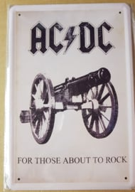 Metaalplaat AC/DC