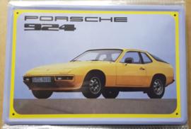 Metaalplaat Porsche 924