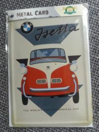 Metalen Postkaart BMW Isetta