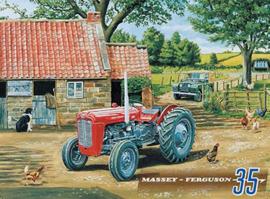 Metaalplaat Massey - Ferguson 35