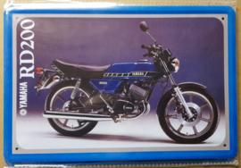 Metaalplaat Yamaha RD200