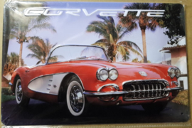 Metaalplaat Chevrolet Corvette