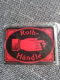 "Metaalplaatje ""Roth-Händle"" 8 x 11 cm"