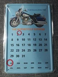 Metaalplaat Harley Davidson FLSH Electra Glide 1987